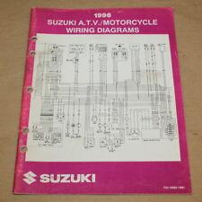 Suzuki Motorcycle Atv Wiring Diagram Manual 1996 T Models Oem For Sale Online Ebay