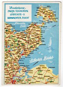 Fehmarn Karte Insel.Details Zu Ak Wanderkarte Insel Fehmarn Lubecker U Hohwachter Bucht Landkarte