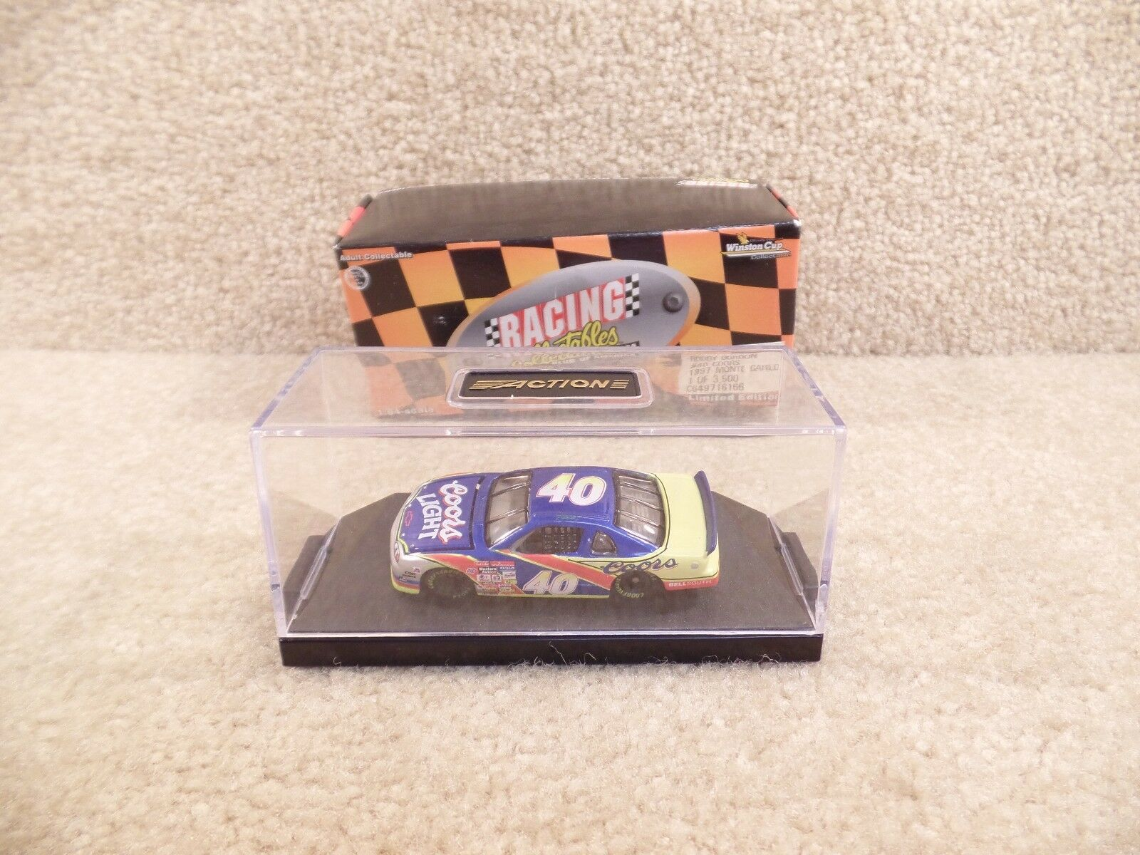 New 1997 Action 1 64 Scale Diecast NASCAR Robby Gordon Coors Light Monte Carlo