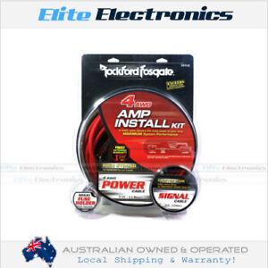rockford fosgate rfk4i 4 awg gauge amplifier wiring kit installation rh ebay com au
