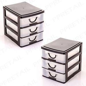 2 X Storage Chests 3 Trays Desk Office