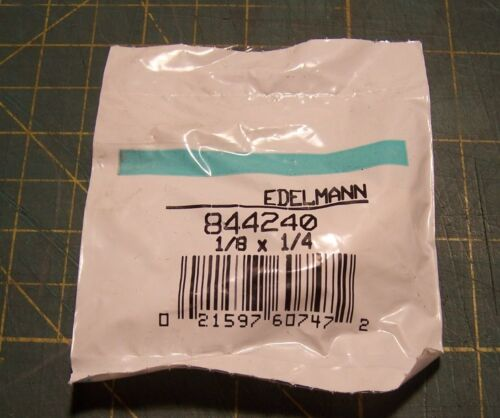 "NPT EDELMANN 844240  1//4/"" Clamp Style Hose Fitting x 1//8/"" Pipe Thread"
