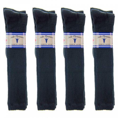 1 Dozen DIABETIC SOCKS Men/'s Women's Black SOLE PLEASER Size 9-11//10-13//13-15