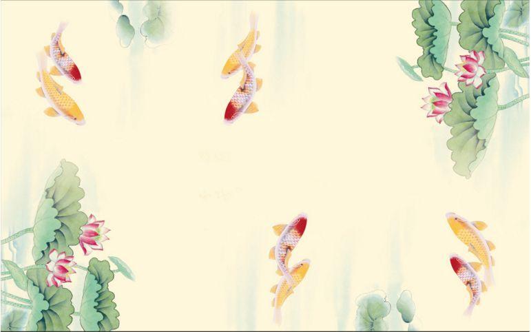 3D Lotus Goldfish Ceiling WallPaper Murals Wall Print Decal Decal Decal Deco AJ WALLPAPER GB bbfcc7