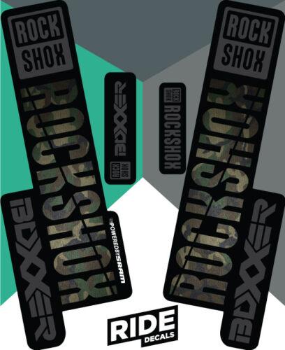 Camo Enduro DH RockShox Boxxer 2018 Style Sticker Decal Sets