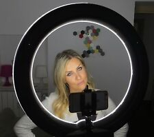 "SOCIALITE™ 18"" DIMMABLE PHOTO VIDEO LED RING LIGHT KIT STAND SMARTPHONE ADAPTER"