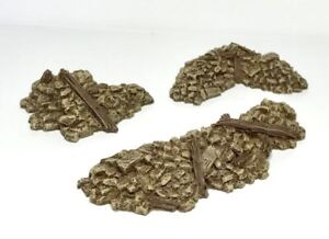 Wargame-scenery-Pack-Of-6-x-28mm-Rubble-sections-28-Wargame-Terrain