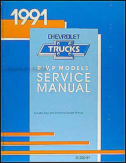1991 Chevy Blazer Suburban RV 3500 Truck Shop Manual 91 Chevrolet Repair Service