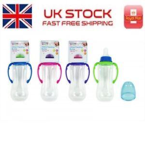 First Steps Gripper Baby Bottle Feeding Juice Milk Water Toddler BPA Free