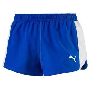 Puma-Running-Herren-Cross-the-Line-Split-Shorts-Maenner-Kurze-Laufhose-blau-weiss