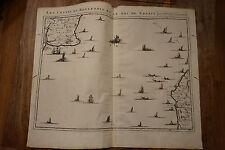 Carte- Plan Costes du Boulenois et Pas de Calais ; Eugène Henry Fricx 1712