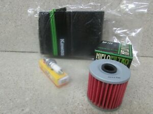 Kawasaki KLF220 Bayou Tune Up Kit NGK D8EA Spark Plug Oil Filter KLF 220 88//99