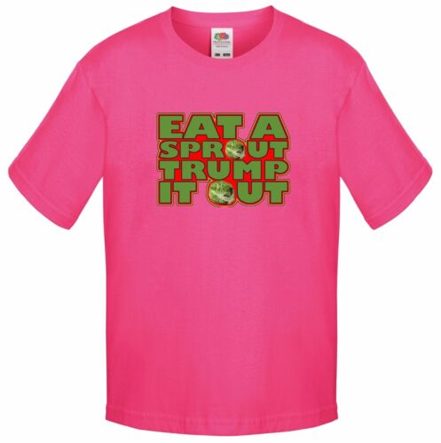 EAT A SPROUT Funny Rude FART Christmas Santa gift Kids T Shirt TRUMP IT OUT