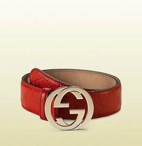 Gucci-Belt-Interlocking-G-Buckle-Leather-Size-30-32