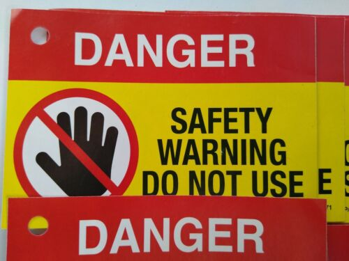 10 Danger Warning Gas Safe Unsafe Appliance Label Notice Tag Do Not Use