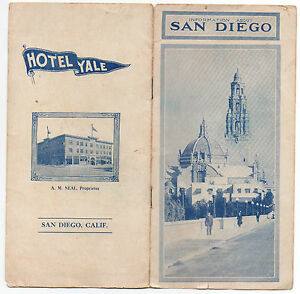 1915 Advertising Brochure for San Diego & the Hotel Yale