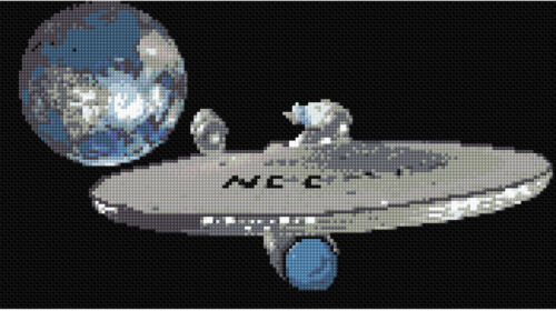 Star Trek 3 Counted Cross Stitch Kit Space//Film