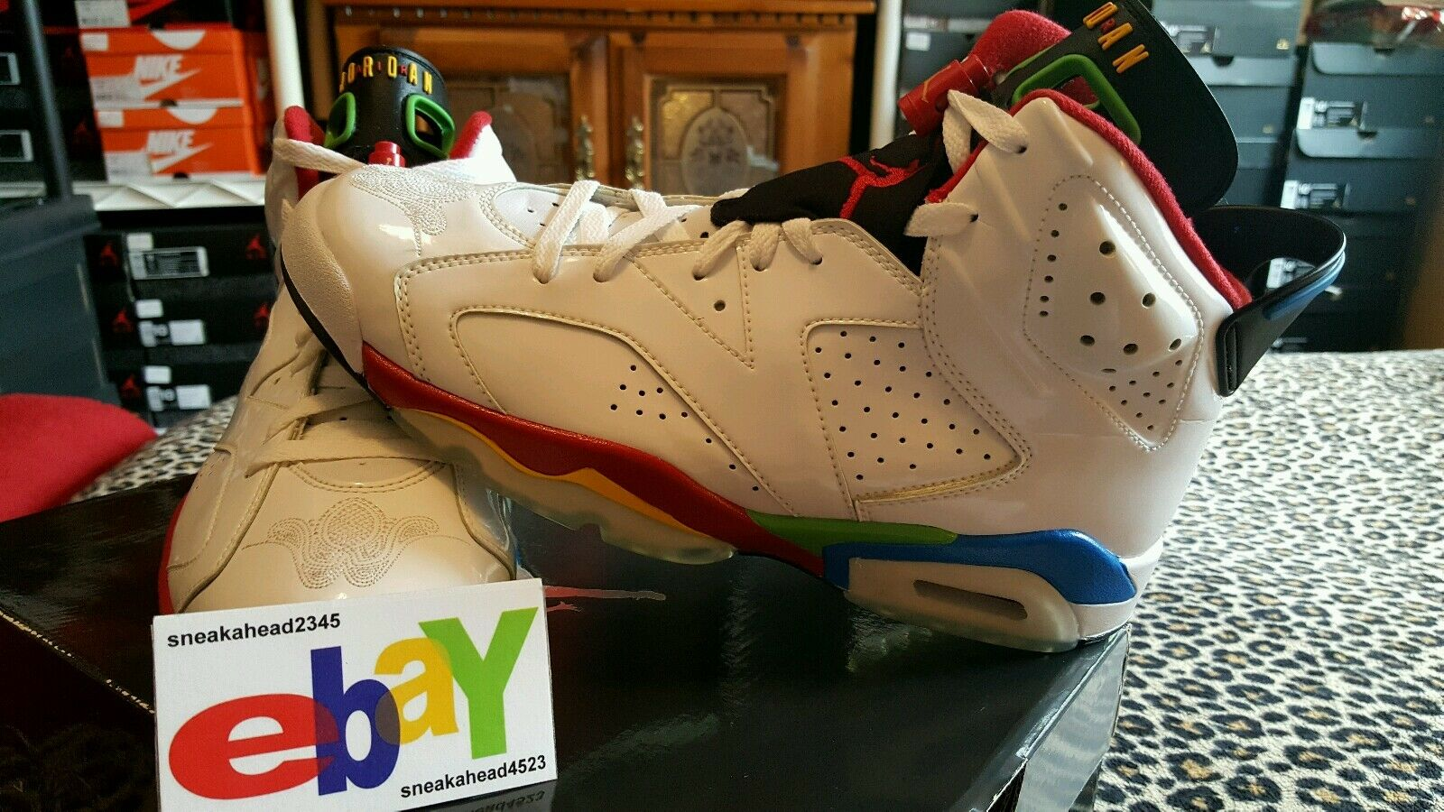 Air Jordan 6 Retro Olympic 3 26 08 WHT VRSTY RD-GRN BN-NW BL 325387 161 2018