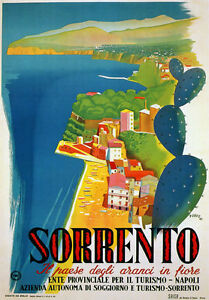TW21-Vintage-Italy-Sorrento-Campania-Italian-Classic-Travel-Poster-Re-print-A4