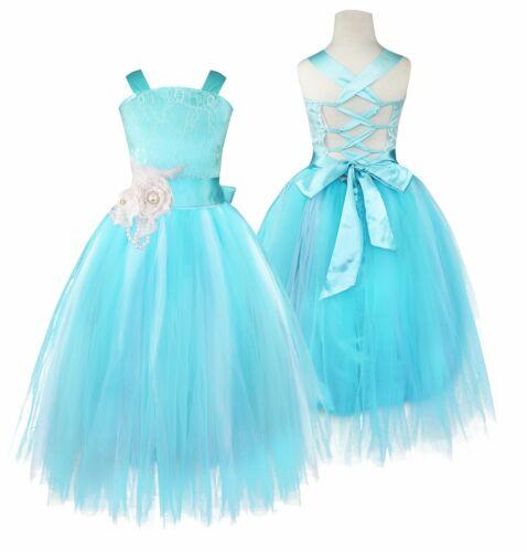 Kids Baby Flower Girls Party Dress Wedding Bridesmaid Dresses Princess Formal