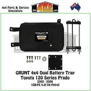 Grunt-4x4-Dual-Battery-Tray-fit-120-Series-Toyota-Prado-2002-2006-4-0l-Petrol