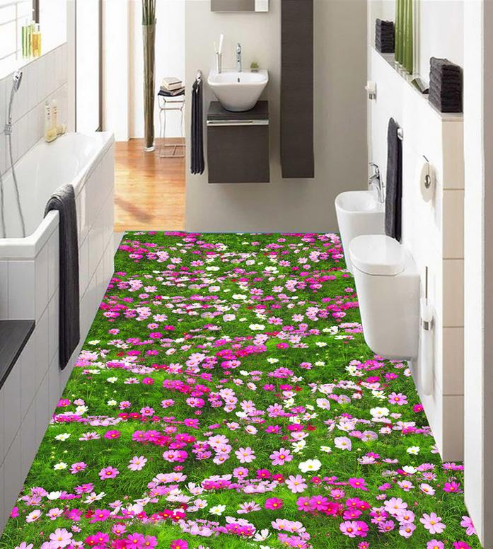 3D Nature Grass Flower 8 Floor WallPaper Murals Wall Print Decal AJ WALLPAPER US