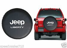 """Black Jeep Liberty Spare Tire Cover Wheel R15 27""""-30"""" New Free Shipping USA"""