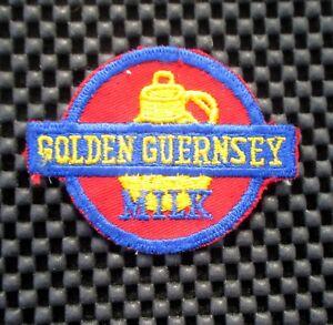 GOLDEN-GUERNSEY-MILK-EMBROIDERED-SEW-ON-PATCH-UNIFORM-ADVERTISING-3-034-x-2-034-dairy