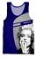 Summer Mens Women star madonna 3D print Beach Tank Tops Loose Sleeveless Vests