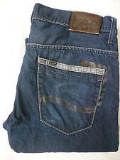 Lee Powell jeans uomo Slim fit DRITTA w34 l33 Blu V 073 #