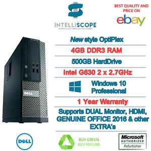 SPEEDY-WINDOWS-10-DELL-OPTIPLEX-COMPUTER-DESKTOP-PC-INTEL-4GB-RAM-500GB-HDD-WIFI
