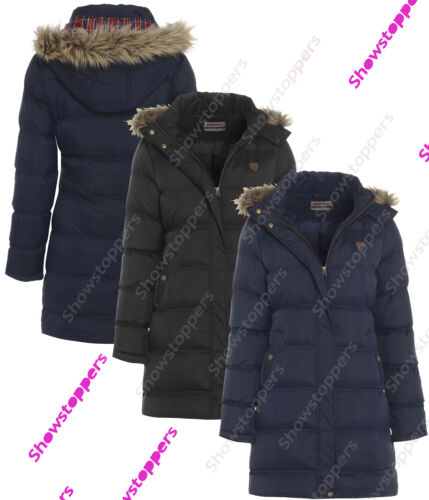 GIRLS New PADDED JACKET COAT HOODED Girl QUILTED Parka AGE 7 8 9 10 11 12 13