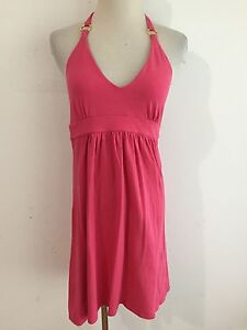 501dbc6737f5 Victoria's Secret Bra Tops Halter Dress Fuchsia/Coral w/Gold Metal ...