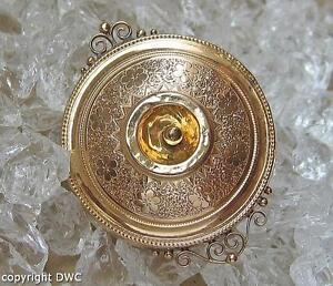 Biedermeierbrosche Brosche Antik Biedermeier Brooch Schaumgold Nr. 10656 2019 Offiziell