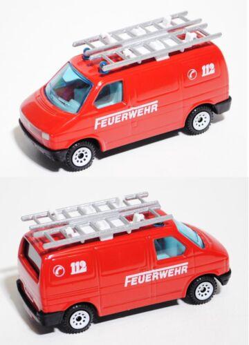 ca Feuerwehr-Gerätewagen 1:62 Siku Super 1343 VW T4 Transporter Kastenwagen