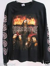 NEW - CRADLE OF FILTH TONIGHT IN FLAMES CONCERT MUSIC T-SHIRT LONG SLEEVE LARGE