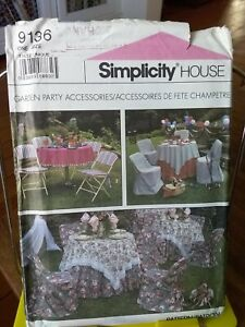 Oop-Simplicity-House-9136-garden-party-folding-chair-covers-table-linens-UNCUT