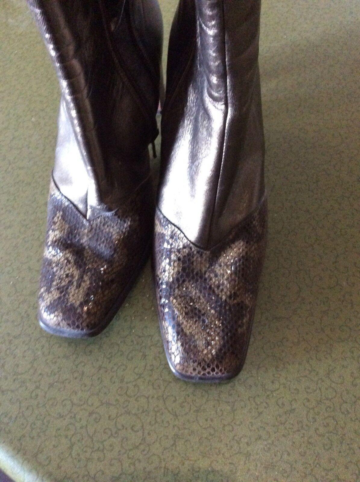 Capollini bronze leather boots 4