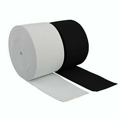 """2/"""" 50mm 2 inch Wide Flat Black or White Strong Woven Elastic Sewing Dressmaking"""