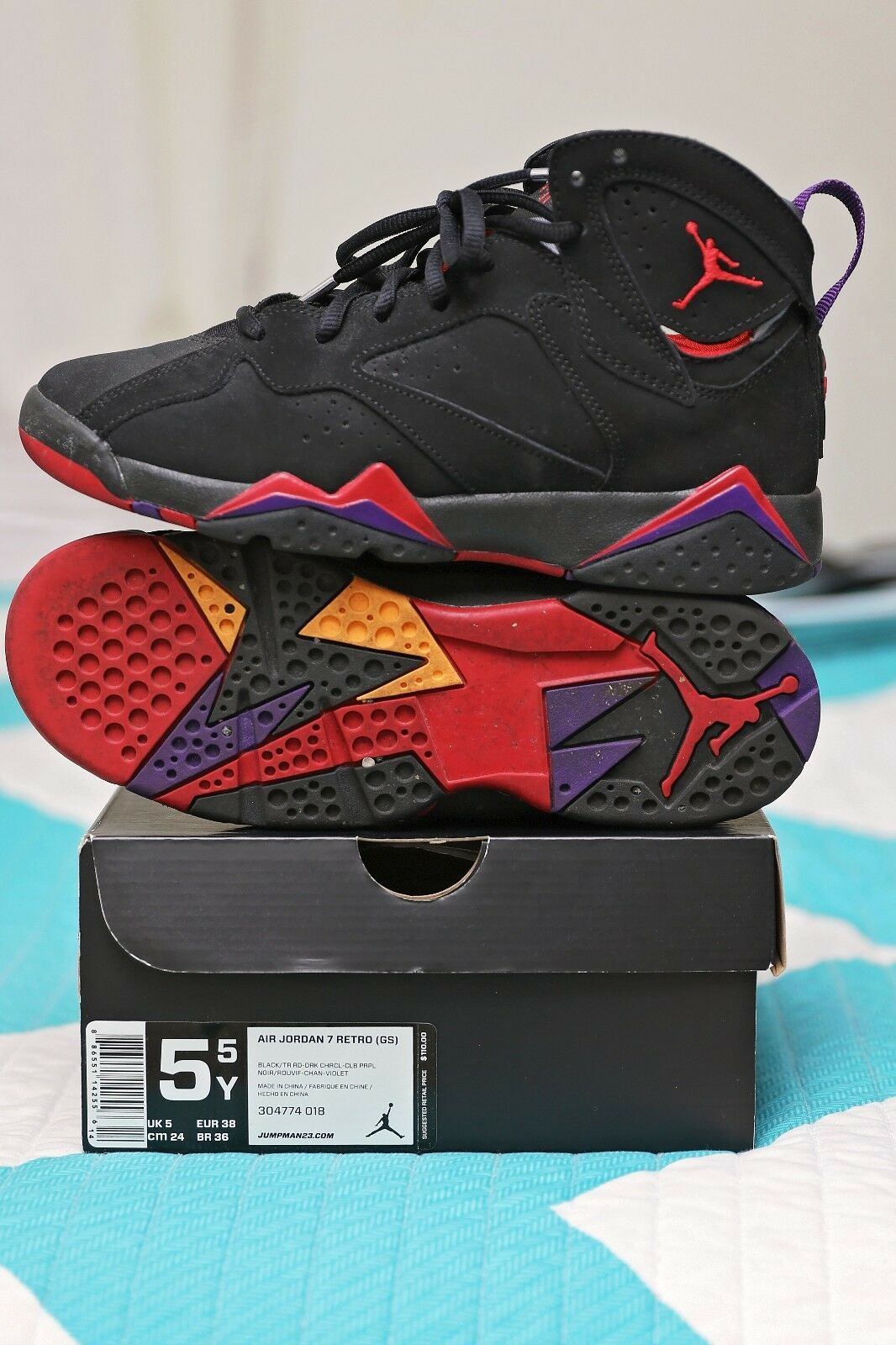 Nike Air Jordan VII 7 Retro Raptor GS Sz. 5.5 Cheap and beautiful fashion