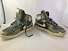 739640-045 Jordan Big Kids Air Jordan 1 Retro High BHM GG black voltage green