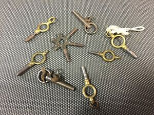 Pack 6 Antik Kleine Schlüssel Taschenuhr Vintage Werkzeug Uhrwerk