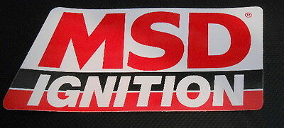 BIG MSD IGNITION DECAL STICKER GASSER IMPORT NASCAR RAT ROD DISTRIBUTOR BOX TOOL