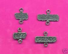 100 wholesale lead free pewter best friends charms 1219