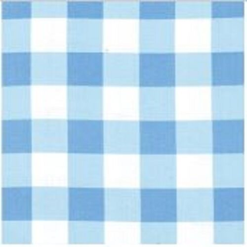 25mm Blue Cotton Gingham Fabric
