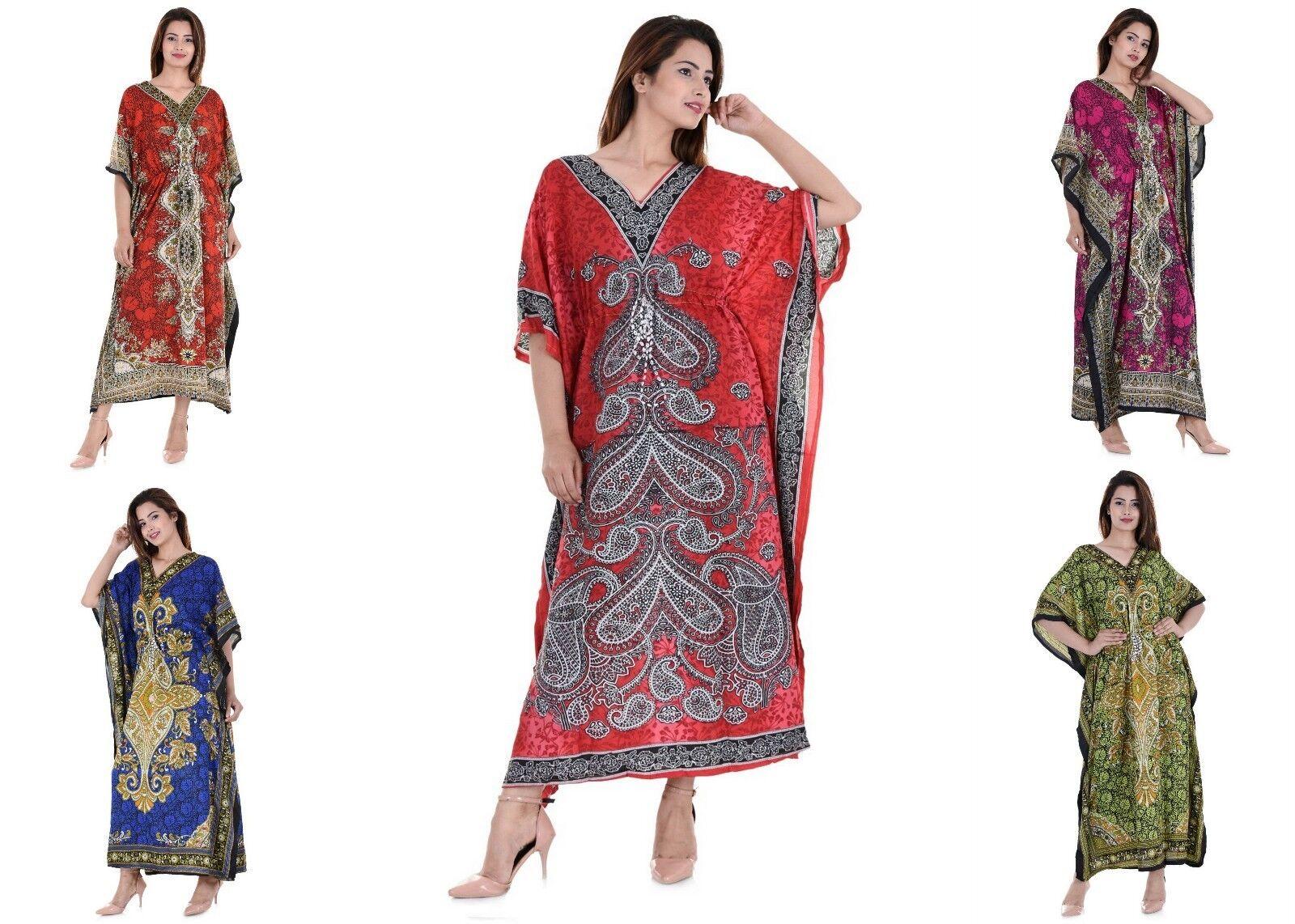 Wholesale Lot 5 Pcs New African Casual Boho Beach Kaftan Women Dress Plus Caftan