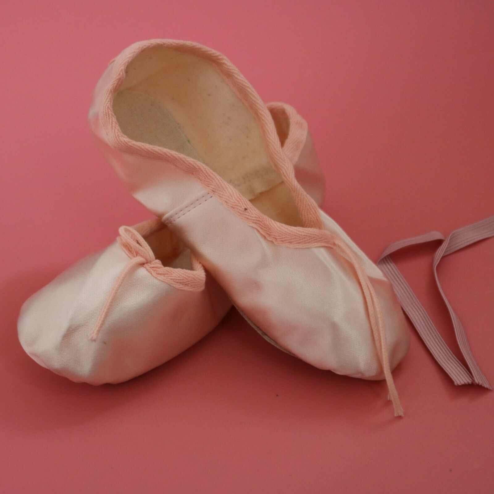Tappers & Pointers Pink Satin Full Foot Ballet Shoes Various Sizes NEW