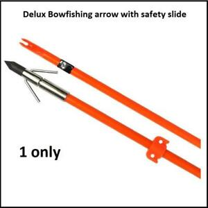 Archery Bowfishing Arrow With Safety Slide And Head