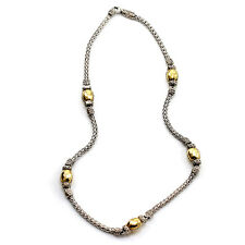 John Hardy Palu Collection Station Necklace in Sterling Silver & 22KY Gold | FJ