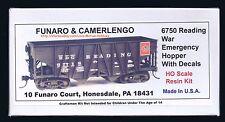 LMH Funaro F&C 6750  READING Railroad  RDG  WWII Emergency Wood Hopper Coal Car